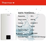 THERMOR-ELECTRIC WATER HEATER STEATITE PRO SQUARE SLIM30LT