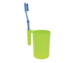 ONYX - BATHROOM PLASTIC WARE C0106 FROSTY TOOTHBRUSH HOLDER CUP 430ML